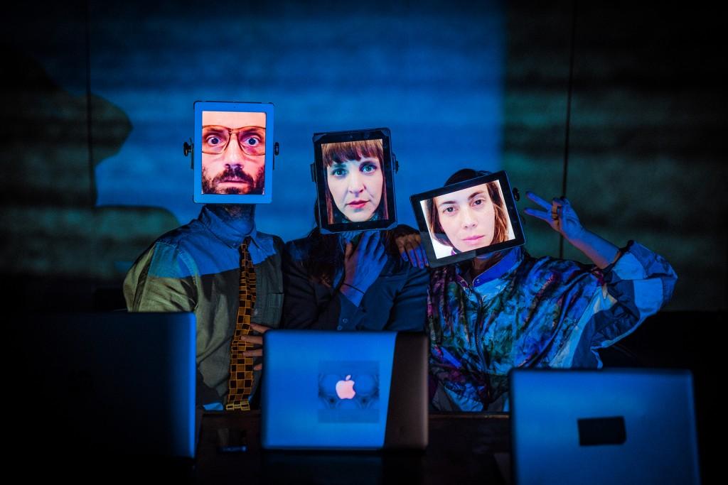 Flashing Lights - Dan Watson, Miranda Calderon, Liz Peterson photo by Francesca Chudnoff